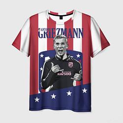 Футболка мужская Griezmann: Atletico Star цвета 3D — фото 1