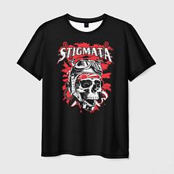 Мужская 3D-футболка с принтом Stigmata Skull, цвет: 3D, артикул: 10141312503301 — фото 1