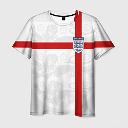 Футболка мужская Сборная Англии цвета 3D-принт — фото 1