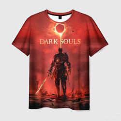 Футболка мужская Dark Souls: Red Sunrise цвета 3D-принт — фото 1