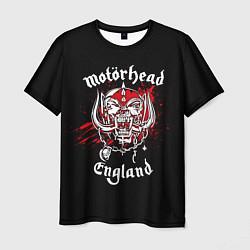 Футболка мужская Motorhead England цвета 3D — фото 1