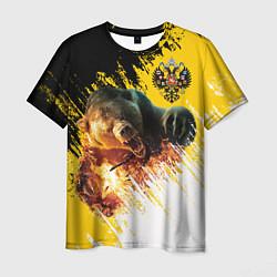 Футболка мужская Имперский медведь цвета 3D — фото 1