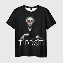 Футболка мужская T-Fest: Black Style цвета 3D — фото 1