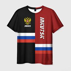 Футболка мужская Irkutsk, Russia цвета 3D — фото 1