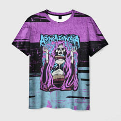 Футболка мужская Asking Alexandria: Purple Death цвета 3D — фото 1