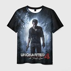 Футболка мужская Uncharted 4: A Thief's End цвета 3D-принт — фото 1
