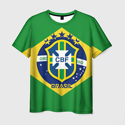Футболка мужская CBF Brazil цвета 3D-принт — фото 1
