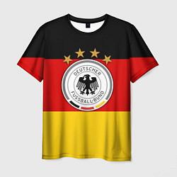 Футболка мужская Немецкий футбол цвета 3D-принт — фото 1