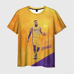 Футболка мужская LeBron James: NBA Star цвета 3D-принт — фото 1