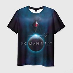 Футболка мужская No Man's Sky: Dark Space цвета 3D-принт — фото 1