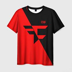 Футболка мужская FaZe Clan: Red & Black цвета 3D — фото 1