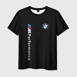Мужская 3D-футболка с принтом BMW PERFORMANCE, цвет: 3D, артикул: 10165850103301 — фото 1