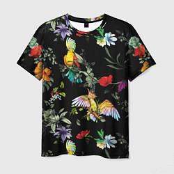 Мужская 3D-футболка с принтом Попугаи, цвет: 3D, артикул: 10171106103301 — фото 1