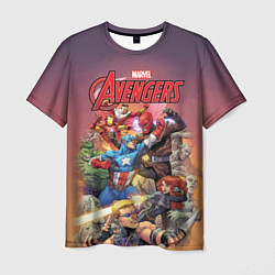 Футболка мужская Avengers Superheroes цвета 3D — фото 1