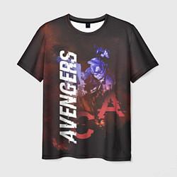 Футболка мужская Avengers: Captain America цвета 3D — фото 1