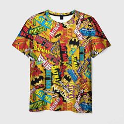 Футболка мужская Batman logos цвета 3D — фото 1