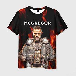 Мужская 3D-футболка с принтом CONOR McGREGOR, цвет: 3D, артикул: 10204012903301 — фото 1