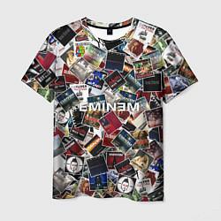 Футболка мужская Дискография EMINEM цвета 3D — фото 1