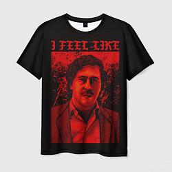 Футболка мужская I feel Like Escobar цвета 3D-принт — фото 1