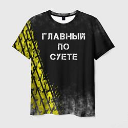 Футболка мужская Главный по суете цвета 3D-принт — фото 1