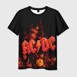 Футболка мужская AC/DC Flame цвета 3D — фото 1