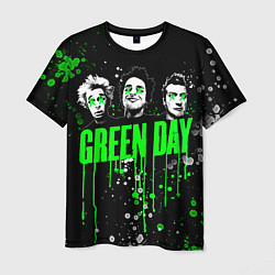 Футболка мужская Green Day: Acid Colour цвета 3D — фото 1