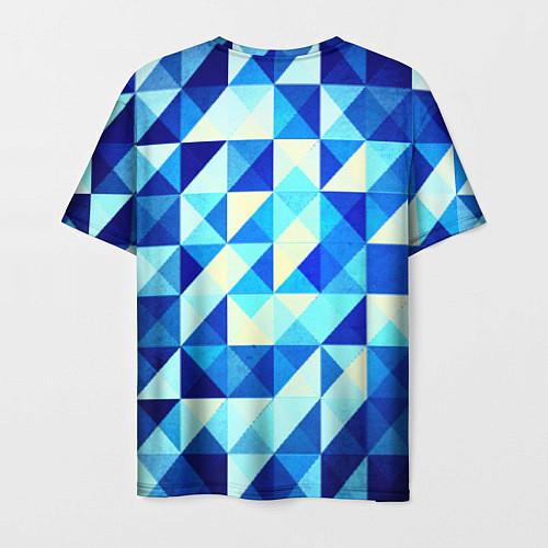Мужская футболка Синяя геометрия / 3D – фото 2