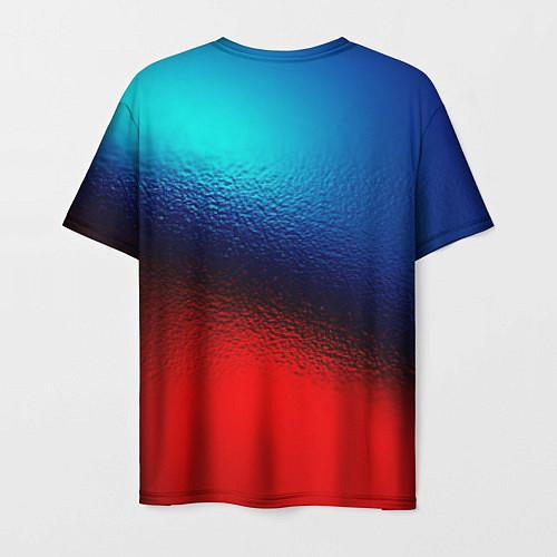 Мужская футболка Синий и красный / 3D-принт – фото 2