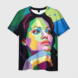 Футболка мужская Angelina Jolie: Art цвета 3D-принт — фото 1