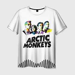 Футболка мужская Arctic Monkeys: Music Wave цвета 3D-принт — фото 1