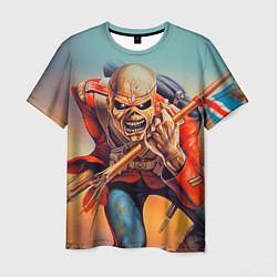Футболка мужская Iron Maiden: Crash arrow цвета 3D — фото 1