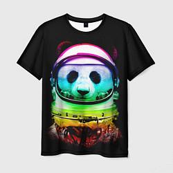 Футболка мужская Панда космонавт цвета 3D — фото 1