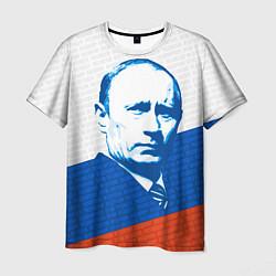 Футболка мужская Президент Путин цвета 3D — фото 1
