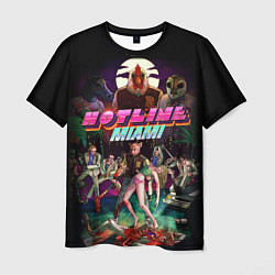 Футболка мужская Hotline Miami цвета 3D — фото 1