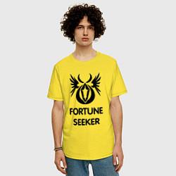 Футболка оверсайз мужская Dwarf Fighter - Fortune Seeker цвета желтый — фото 2