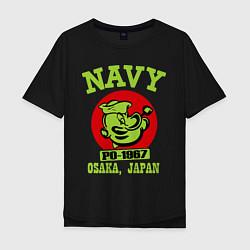 Футболка оверсайз мужская Navy: Po-1967 цвета черный — фото 1