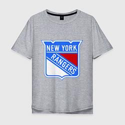 Футболка оверсайз мужская New York Rangers цвета меланж — фото 1