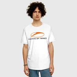 Мужская удлиненная футболка с принтом A State of Trance, цвет: белый, артикул: 10011042205753 — фото 2