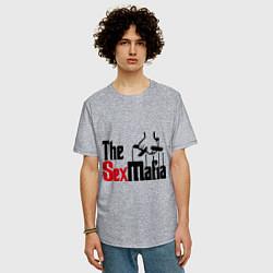 Футболка оверсайз мужская The SexMafia цвета меланж — фото 2