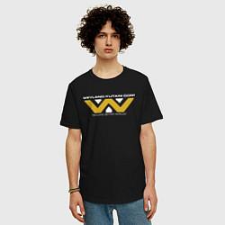 Футболка оверсайз мужская Weyland-Yutani цвета черный — фото 2