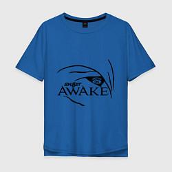Мужская удлиненная футболка с принтом Skillet awake, цвет: синий, артикул: 10013056005753 — фото 1