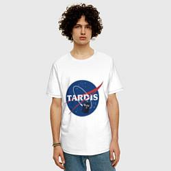Футболка оверсайз мужская Tardis NASA цвета белый — фото 2
