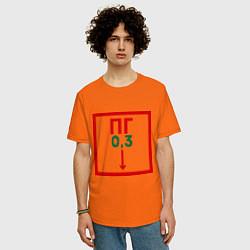 Футболка оверсайз мужская Пожарный гидрант цвета оранжевый — фото 2