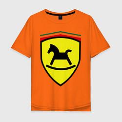 Футболка оверсайз мужская Ferrari: Kid Horse цвета оранжевый — фото 1
