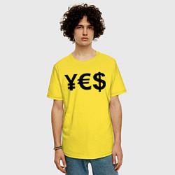 Футболка оверсайз мужская YE$ цвета желтый — фото 2