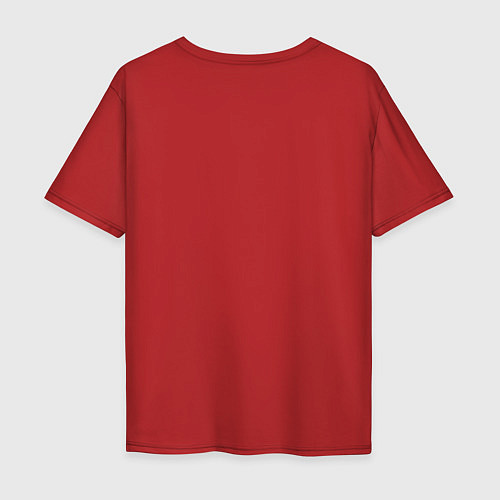 Мужская футболка оверсайз Made in 1994 / Красный – фото 2