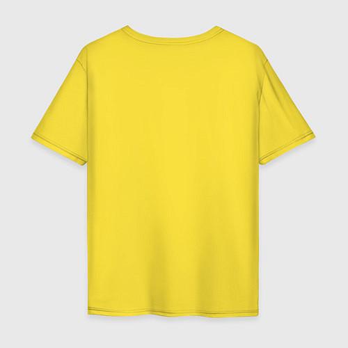Мужская футболка оверсайз Эта ненормальная со мной / Желтый – фото 2