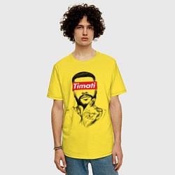 Футболка оверсайз мужская Timati Supreme цвета желтый — фото 2