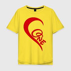 Футболка оверсайз мужская One love: for his цвета желтый — фото 1