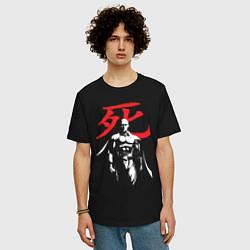 Мужская удлиненная футболка с принтом Saitama Hero, цвет: черный, артикул: 10168868105753 — фото 2